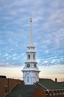 Steeple And Rooftops Print by Eric Gendron