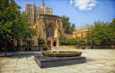 Sterling Memorial Library And The Women's Table - Yale University Print by Mountain Dreams