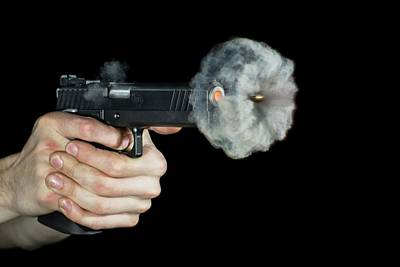 High Speed Photograph - Sti Edge Pistol Shot by Herra Kuulapaa � Precires