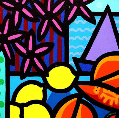 Tropical Fish Painting - Still Life At Window IIi by John  Nolan