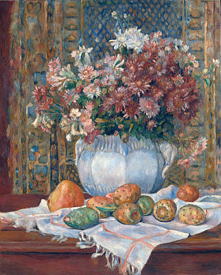 Pierre-auguste Renoir Painting - Still Life With Flowers And Prickly Pears by Pierre-Auguste Renoir