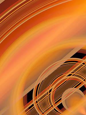 Vibrating Digital Art - Stillness by Tom Druin