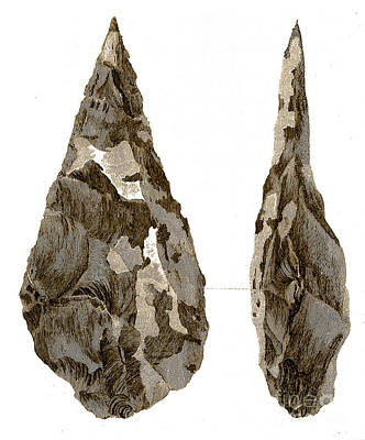 Stone Age Hand-axes From Hoxne, Suffolk Print by Science Source