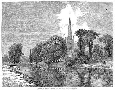 Stratford Painting - Stratford-on-avon, 1847 by Granger