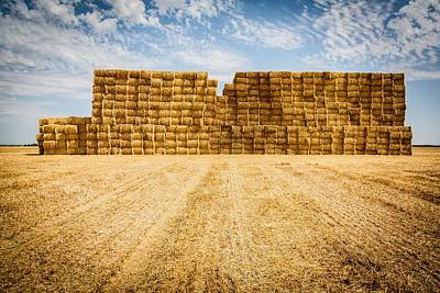 Photograph - Straw Bales by Philippe Garo