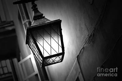 Lamp Photograph - Street Lamp Shining by Michal Bednarek