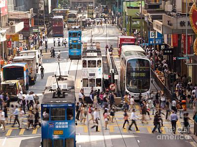Tsui Photograph - Street Scene In Hong Kong by Matteo Colombo