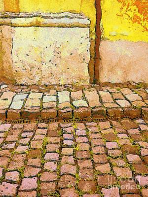Czech Republic Painting - Street Scene by Odon Czintos