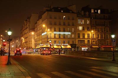 Street Scenes - Paris France - 011326 Print by DC Photographer