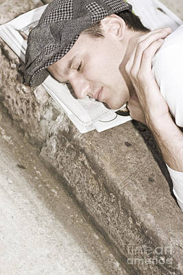 Street Sleeper Print by Jorgo Photography - Wall Art Gallery