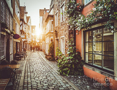 Streets Of Europe Print by JR Photography