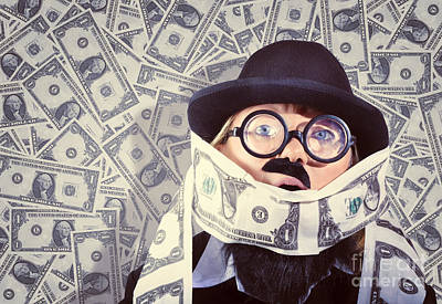 Stressed Business Man Drowning In Financial Debt Print by Jorgo Photography - Wall Art Gallery