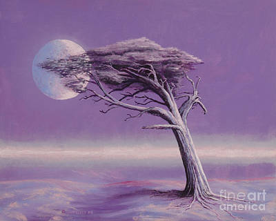 Tree Roots Painting - Struggle by Jerry McElroy