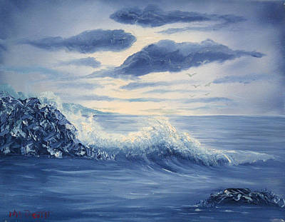 Monotone Painting - Study In Blue by Barbara McDevitt