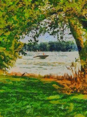 Boating Mixed Media - Summer On The Lake by Dan Sproul