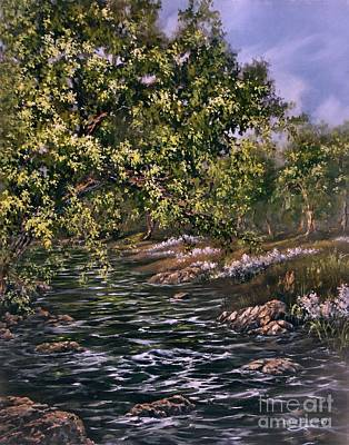 Creek Painting - Summer Retreat by Lynne Wright