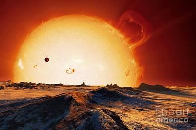 Sun Over Dying Earth, Artwork Print by Detlev van Ravenswaay