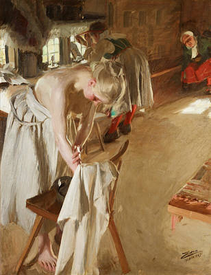 Zorn Painting - Sunday Morning by Anders Zorn
