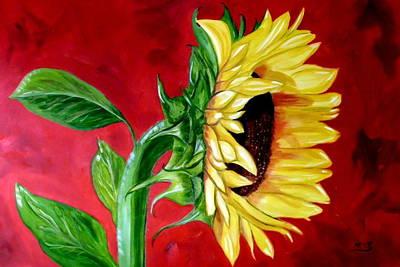 Painting - Sunflower Sunshine by Maria Soto Robbins