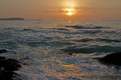 Sunrise At Portscatho Print by Pete Hemington