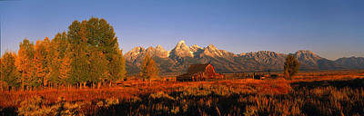 Sunrise Grand Teton National Park Wy Usa Print by Panoramic Images