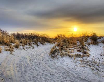 Sunrise Walk Print by Vicki Jauron