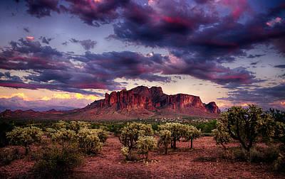 Sonoran Desert Photograph - Sunset At The Superstitions  by Saija  Lehtonen