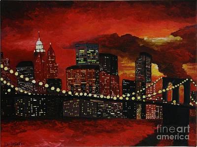 Sunset In New York Original by Denisa Laura Doltu