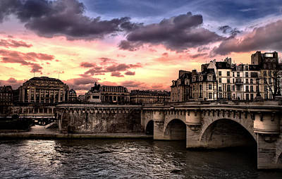 Architecture Photograph - Sunset In Paris by Radoslav Nedelchev