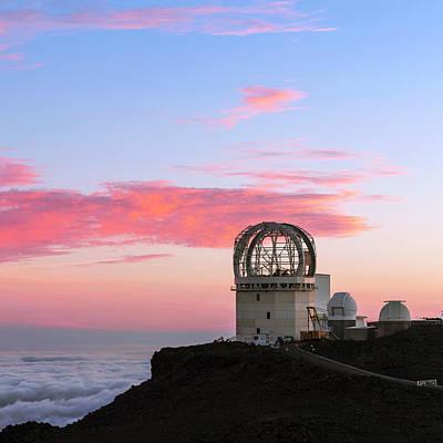 Sunset Over Haleakala Observatories Print by Babak Tafreshi