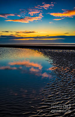 Evening Digital Art - Sunset Reflections by Adrian Evans