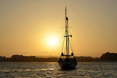 Pirates Photograph - Sunset Sailing In Cabo by Christine Till