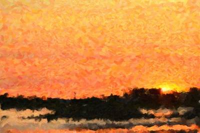 Sunset Print by Toppart Sweden