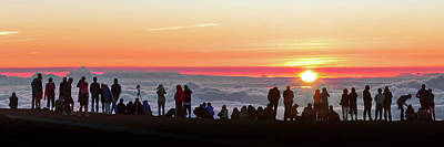 Sunset Tourism On Haleakala Print by Babak Tafreshi