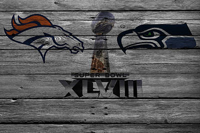 Super Bowl Xlviii Print by Joe Hamilton