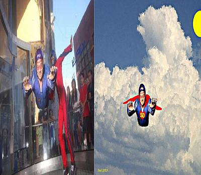 Cloud Painting - Super David by Bruce Nutting