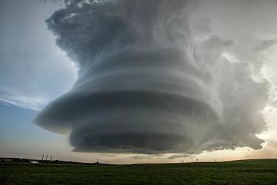 Supercell Thunderstorm Print by Roger Hill