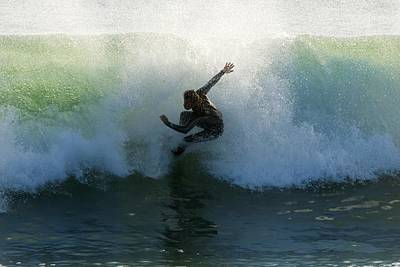Surf Lifestyle Photograph - Surfer Catching A Wave by Ben Welsh