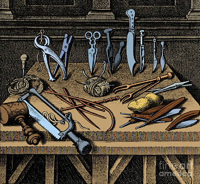 Surgical Equipment 16th Century Print by Science Source
