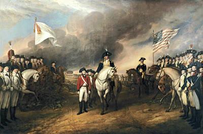 Surrender Of Lord Cornwallis Print by John Trumbull