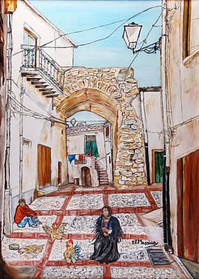 Sicily Painting - Sutera Rabato Antico by Loredana Messina