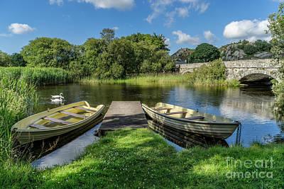 Llanberis Photograph - Swan Lake by Adrian Evans