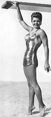 Gold Lame Photograph - Swimming Star Esther Williams by Underwood Archives