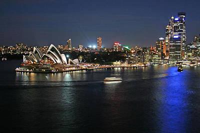 Sydney Skyline Photograph - Sydney Harbor At Circular Quay by Ellen Henneke