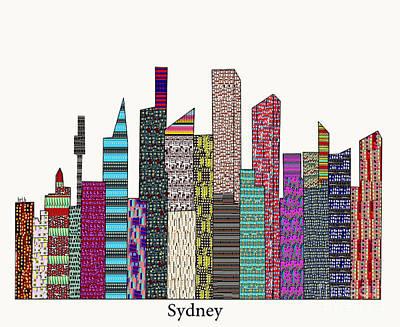 Sydney Skyline Mixed Media - Sydney Skyline  by Bri B