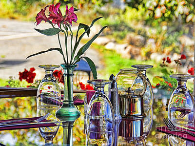 Table Setting Reflections Print by Jack Schultz
