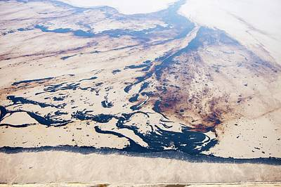Oil Slick Photograph - Tailings Pond At Syncrude Mine by Ashley Cooper