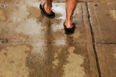 Femal Photograph - Taking Steps by Karol Livote