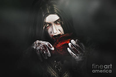 Nibbling Photograph - Tales From A Vampires Crypt by Jorgo Photography - Wall Art Gallery