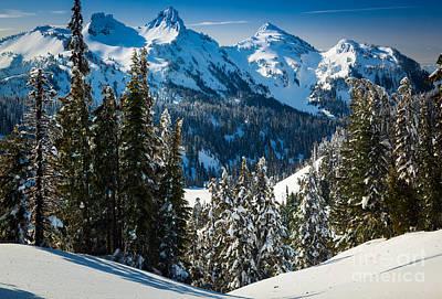 Mt. Rainier Photograph - Tatoosh Winter Wonderland by Inge Johnsson